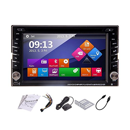 EinCar Windows 8 Os Car Radio with Hd Digital Touch Screen 6.2 inch Double Din in Dash GPS Navigation Car Stereo Car DVD Player Support Sat Nav USB Sd Bluetooth Mp3 Auto Radio Multimedia System