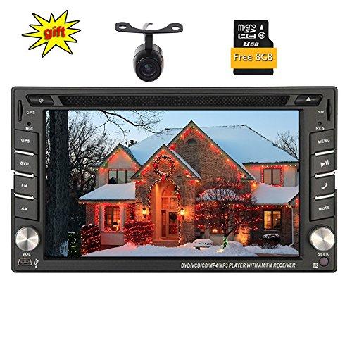 Freie 8GB Karten-Karte und Kamera! Doppel-DIN-GPS-Auto-DVD-Player mit HD-Digital-Bildschirm-Auto Audio Stereo System Dash Bluetooth GPS-Navigation Auto Stereo-Unterstützungs-USB / SD / Aux / SWC - Auto Audio-gps-system Für