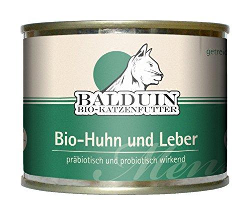 Mühldorfer Bio Katzenfutter Menü Huhn und Leber 200 g, 6er Pack (6 x 200 g)
