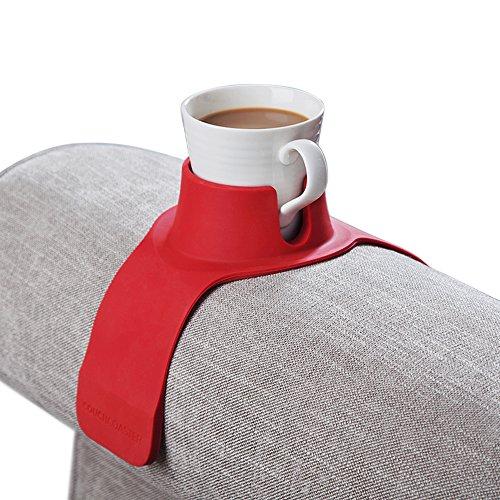 CouchCoaster - Le porte-gobelet ultime pour votre sofa, Rouge rosso