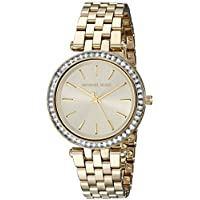 Michael Kors Mini Darci Watch For Women - Analog Stainless Steel Band - Mk3365, Gold,