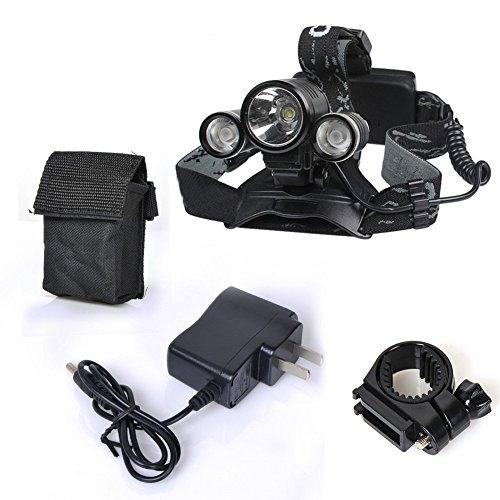 Preisvergleich Produktbild Genwiss 2 in 1 super helle 5000 Lumen 4 Modi CREE XML-T6 XPE R2 LED Stirnlampe Kopflampe & Bike Fahrrad Taschenlampe für Camping Biking Arbeits Jagen Fischen Reiten (mit Batterien und Ladegerät)