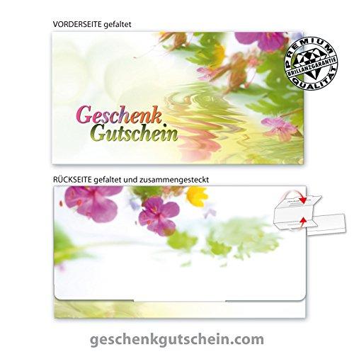 10 Stk. Premium Geschenkgutscheine Gutscheine zum Falten mit hochglänzender Aussenseite für deutsche Apotheken, Naturheilkunde AP234, LIEFERZEIT 2 bis 4
