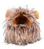 Demarkt Löwe Mähne Hund Kostüme mit Ohren Cosplay Haustierkostüm für Hunde Katzen Haustiere