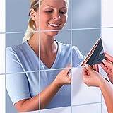 16 Stück Spiegel Wandaufkleber ,Spiegelfliesen Wandspiegel Selbstklebend DIY Mosaik Fliesen Aufkleber Zuhause Küche Dekorative Badezimmer Reflektierende Spiegel 15x15cm