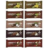 Simply Raw Brawnie Set 10x45g Kakao-Riegel (bio, roh, vegan) Rohkost-Brownies 10St.