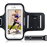 "Mpow iPhone 7 Plus / 6s Plus / 8 Plus / 6 Plus Running Sport Armband for Samsung Galaxy S8, S8 Plus, S7 edge, S6 edge (Up to 5.5""), Sweatproof Phone Holder for Running Safey Design Suitable for Exercise, Gym, Jogging"