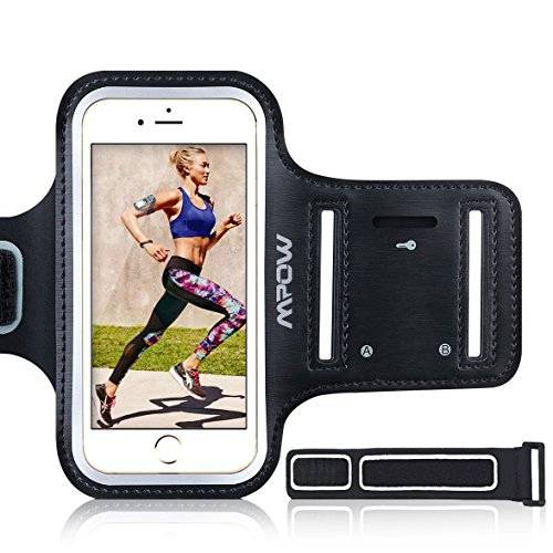 Mpow-iPhone-6-6s-7-8-Plus-Running-Sport-Armband-for-Samsung-Galaxy-S8-S8-Plus-S7-edge-S6-edge-Up-to-55-Adjustable-Size-Sweatproof-Phone-Holder-for-Running-Safey-Design-Suitable-for-Exercise-Gym-Joggin