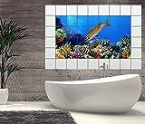 Fliesenaufkleber Fische Korallen Riff Ozean Meer 15 10 25 20 cm Wasser Unterwasserwelt Fliesenbild Bild Fliesen Kachel Fliese Fliesenbilder Aufkleber Bad Küche 8B212, Bildformat:105cmx70cm;Fliesengröße:Fliese 20x25cm