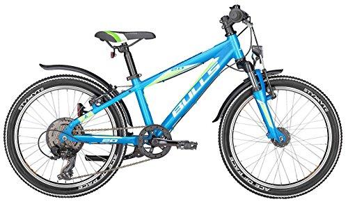 Kinderfahrrad 20 Zoll blau - Bulls Tokee Street Mountainbike - Shimano Schaltung 6 Gänge, Licht, Schutzbleche (Blauer Street Damen Gang)