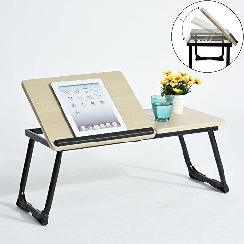 Soporte para portátil plegable, mesa de ordenador portátil, con barra antideslizante para proteger portátil, apto para portátiles de 14-17'