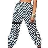 Frauen Hosen Sommer Lange Elegante Elastische Plaid Bund Hosen Lässige Mode Hip Hop Grundlegende Hose Tuch Hose Kostüm