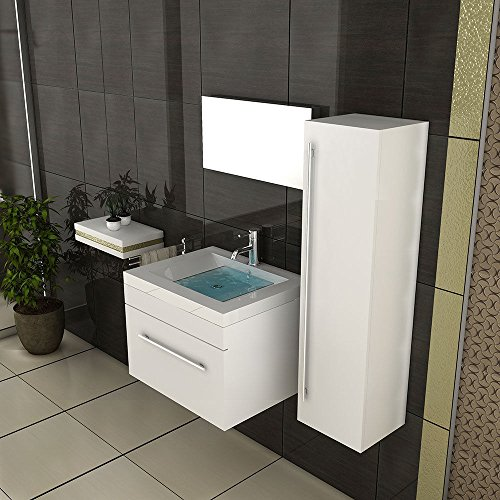 White Bathroom Furniture / Bathroom Sink With Cupboard ...