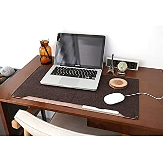 Multi-function Mouse Pad,ANGTUO Fixed Writing Desk Felt Mat Notebook Pad with Storage Bag, Pen Inserted at Home Office Essential,Brown