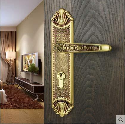 XOYOYO Interior de candado de Cobre Americano por Dormitorio de candado por candado Madera Maciza Antigua por Mute Europeo de Cobre Puro por candado de Oro Rosa
