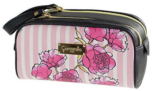 3f027b44ac Camomilla Milano-Astuccio make up doppia zip stripe&flower rosa