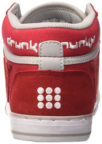 DrunknMunky Herren Boston Classic Mid Tennisschuhe Rosso (Red/Grey)