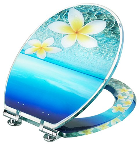 Preisvergleich Produktbild Cornat KSDSC336 Dekor Acryl WC-Sitz Tropical mit Absenkautomatik