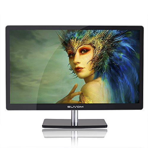 SUVOM® 23 Inch LCD Monitor Screen Full HD 1920x1080 2ms HDMI VGA Wide Visual with Speaker