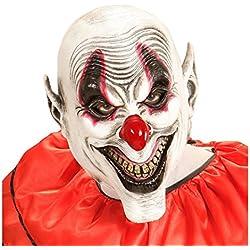 Máscara bufón de miedo Careta de payaso de terror sonriente Mascarilla látex arlequín cubre rostro fiesta de terror Antifaz payasito loco Accesorio halloween de terror IT