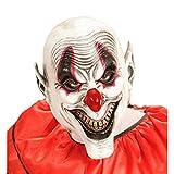 Gruselige Clownsmaske Lachende Horror Clown Maske Latexmaske Harlekin Clownmaske Narr Halloween Kostüm Accessoires Halloweenmaske Horrormaske ES