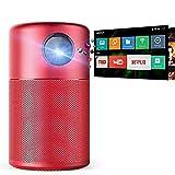 UNOKS Smart Portable Projektor, Pocket Cinema mit High-Contrast, Remarkable 100 ' ' Bild, 360 ° Speaker, Android 7.1, 4 Stunden Video-Playtime, 30 Stunden Musik Playtime,