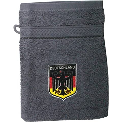 Asciugamano piccolo con pressione &#2022 x; AQUILA IN GERMANIA DISTINTIVO &#2022 x; NUOVO (31212 grigio) Cappotto delle armi asciugamano piccolo