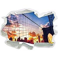 Manhattan al tramonto, di carta 3D autoadesivo della parete formato: 92x67 cm decorazione della parete 3D Wall Stickers parete