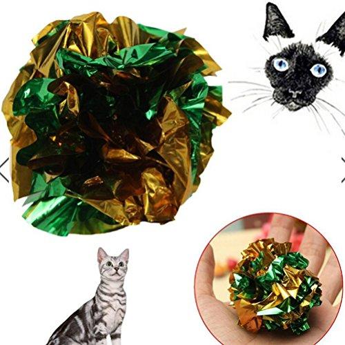 Funkelnden Sterne 2x Crinkle Crackle Papier Knister-Sound ball Katze Kätzchen Pet Aktivität Play Spielzeug