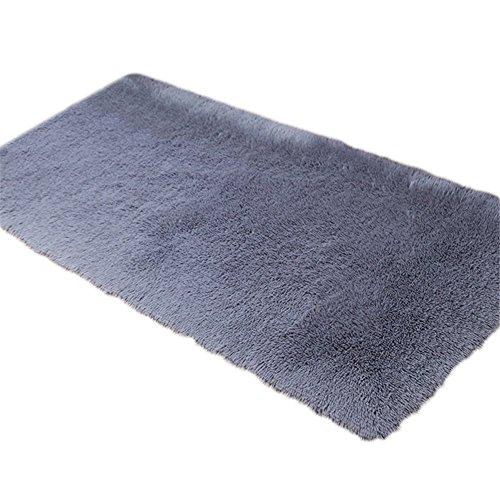 Lymocha -1 Pieza Alfombrilla Antideslizante para Sala de Estar, Alfombra de Entrada para Baño y Cocina para Textiles del Hogar y Decoración del Hogar Size 40 X 60CM (Gris)