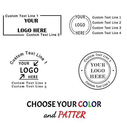 Timbro Personalizzato Logo,Timbro Personalizzabile,60x20 mm, 4 righe di testo,Timbri in gomma per aziendale, ufficio, ritorno, insegnante, casa, banca