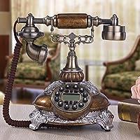 HGJSMN Telefono Telefono Cellulare Classico Rotativo Telefono A Chiamata Rotativa Stile Vintage Telefono A Linea Tradizionale con Campanello Tradizionale E Quadrante A Pulsante (Color : Oil Color)