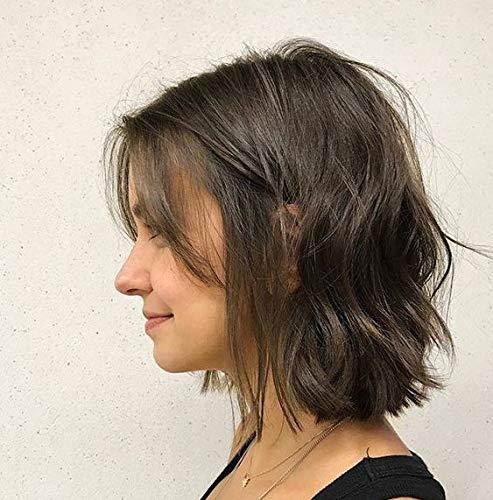 Ugeat 10 Zoll Bob Perucke Kurz Haarverlangerungen 130% Dichte Water Wave Curl Bob Wig Lace Front