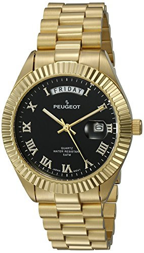peugeot-mens-14k-all-plated-day-date-roman-numeral-big-black-face-fluted-bezel-luxury-quartz-metal-a