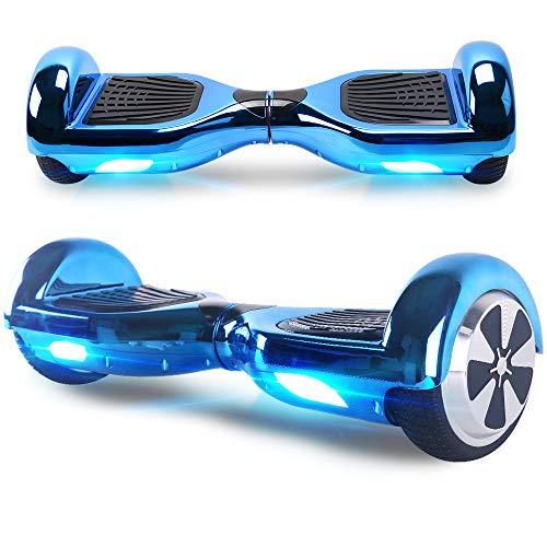 "BEBK Hoverboard, 6.5\"" Self Balance Scooter mit 2 * 250W Motor, LED Lights Elektro Scooter (ChromeBlue)"