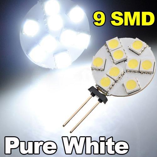 Preisvergleich Produktbild TOOGOO(R) G4 5050 SMD 9 LED-Licht reinweiss Start Automeeres Gluehbirne fuer Boote