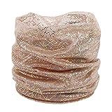 GreatestPAK Loop Schal Damen Printed Silk Schal im Freien Licht Gradient Gradation Schal Sonnencreme Chiffon Schal,Khaki