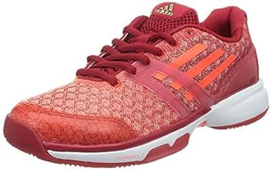 sports shoes 4ee23 ddd9e adidas Adizero Ubersonic Scarpa da Tennis Donna, Rosso Bianco, 41 1 3   Amazon.it  Scarpe e borse