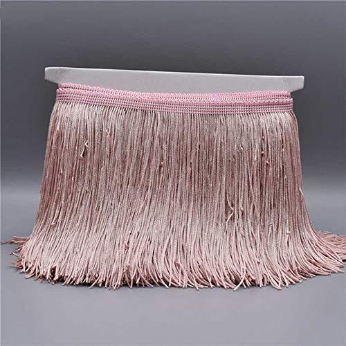 EVEYYLS 10 Meter Gold Farbe Lace Fringe Trim Quaste Fringe Trimmen Latin Kleid Bühne Kleidung Zubehör Spitzenband, blass rosa grau -