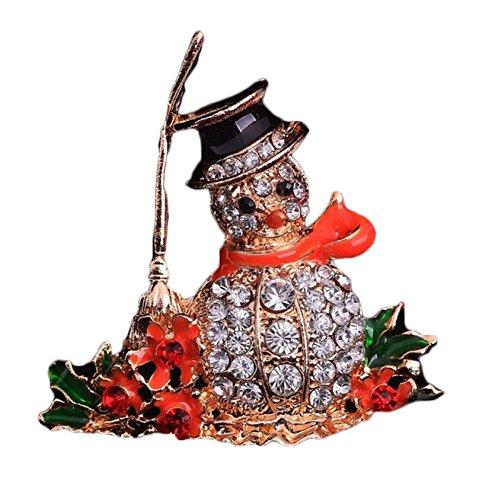 Broschen Ornament Damen Ornament Vintage Elegant Brustpin Weihnachten Ornamente Corsage Diamond Schal,Golden-OneSize -
