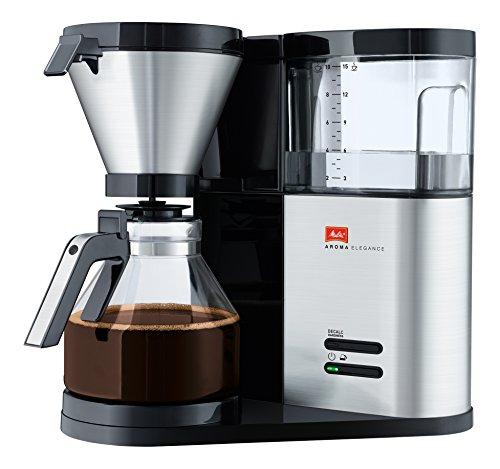 Melitta Filterkaffeemaschine, Aromaschalter, Inkl. Glaskanne, Aroma Elegance, Schwarz/Edelstahl, 1012-01 - 12 Cup Kaffeemaschine