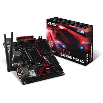 MSI Z170I Gaming Pro AC Scheda Madre Intel Mini ITX Socket LGA1151, Nero