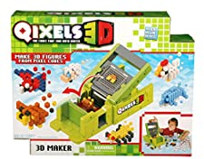 The Qixels 3D Maker gives you the power to shape and create Qixels in 3D! Use the 3D Maker's unique 'layer by layer' technology to add another dimension to your creations and make them stand out from the rest. Build them up and build them out and sta...