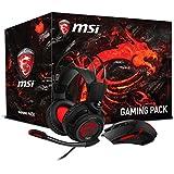 MSI 956-B907-102 Gaming-Kopfhörer DS502 mit Interceptor Maus (Gaming-Pack) schwarz - gut und günstig