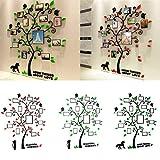 3D Acryl Kristall Dreidimensionale Wandaufkleber Bilderrahmen Baum Wandaufkleber TV Sofa Dekorative Wand Hintergrund Aufkleber