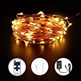 Led String Lights 100 LEDs 10m 33Ft Warm White Copper Wire Waterproof Fairy Starry Rope Light Christmas Decoration Indoor Outdoor Lighting