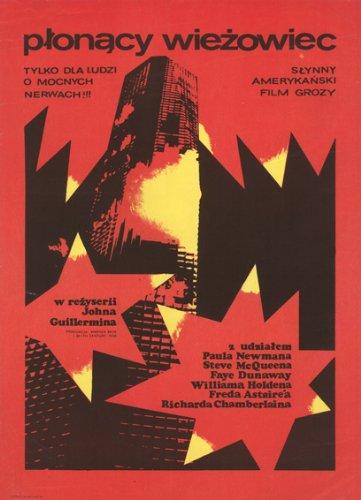 La imponente Inferno (1974) polaco de póster