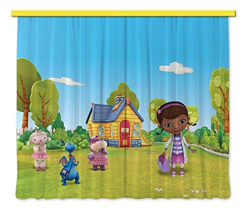 Gardine/Vorhang FCP xxl 6002 Disney Dr.Mcstuffins, 280 x 245 cm, 2-teilig (Dekoration Dr. Mcstuffins)