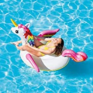 """Generic Unicorn Inflatable Float for Adults & Kids (Size: 79"""" x 5"""