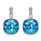 J.RENEÉ 'Ronda clásica' pendientes mujer de aro azules hechas con cristales de Swarovski, pendientes mujer, joyas para mujer